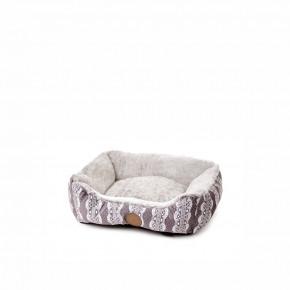 Pelíšek FurryS, 50cm, šedý, jemný pelíšek pro psy