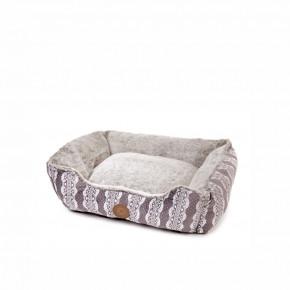 Pelíšek FurryM, 60cm, šedý, jemný pelíšek pro psy