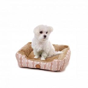 Pelíšek FurryM, 60cm, béžový, jemný pelíšek pro psy