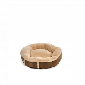 Pelíšek Balu S hnědý, 50cm, pohodlný kulatý pelíšek pro psy