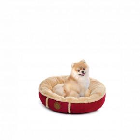 Pelíšek Balu S vínový, 50cm, pohodlný kulatý pelíšek pro psy