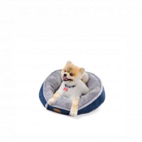 Pelíšek Balu S modrý, 50cm, pohodlný kulatý pelíšek pro psy