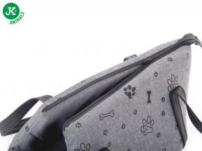 JK ANIMALS taška Grey LUX S   © copyright jk animals, všechna práva vyhrazena