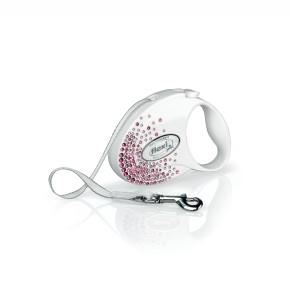 flexi Glam Splash Pink Tape (pásek), velikost S, bílá