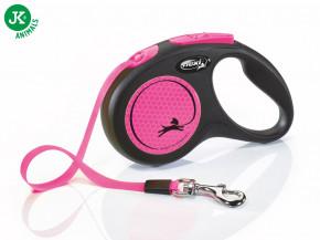 flexi New Neon Tape (pásek) růžové, velikost S | © copyright jk animals, všechna práva vyhrazena