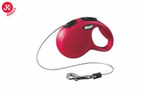 flexi new classic cord mini červená   © copyright jk animals, všechna práva vyhrazena