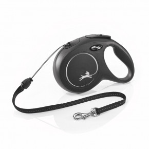 flexi New Classic Cord (lanko), velikost M, černá