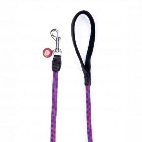 Nylonové provazové vodítko Comfort ABS sprotiskluzovými gumovými body, červenomodré