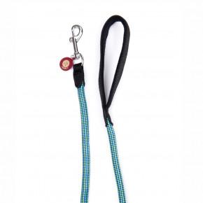 Nylonové provazové vodítko Comfort ABS sprotiskluzovými gumovými body, zelenomodré