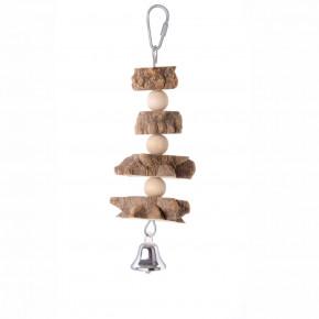 JK natural špíz, dřevěná hračka pro ptáky