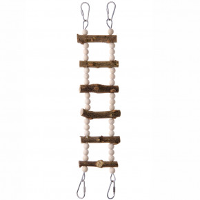 JK natural žebřík, dřevěná hračka pro ptáky
