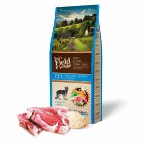 Sam's Field Gluten Free Beef & Veal Junior Large, superprémiové granule pro štěňata a mladé psy velkých a obřích plemen, 13kg (Sams Field bez lepku)