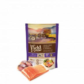 Sam's Field Grain Free Salmon & Herring, superprémiové granule pro psy všech velikostí a plemen, 800g (Sams Field bez obilovin)