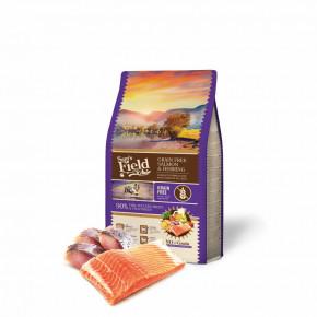 Sam's Field Grain Free Salmon & Herring, superprémiové granule pro psy všech velikostí a plemen, 2,5kg (Sams Field bez obilovin)