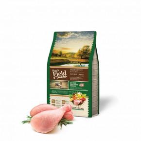 Sam's Field Low Grain Junior Large Chicken & Potato, superprémiové granule pro štěňata a mladé psy velkých a obřích plemen, 2,5kg (Sams Field bez pšenice)