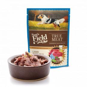 Sam's Field True Meat Lamb with Rice & Pea, šťavnaté masové kapsičky jehněčí maso srýží a hrachem pro psy, 260g (superprémiové kapsičky pro psy)
