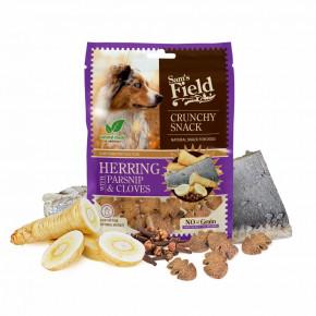 Sam's Field Crunchy Cracker Herring with Parsnip & Cloves, křupavý sleďový pamlsek spastinákem a hřebíčkem pro psy, 200g (Sams Field masový pamlsek)